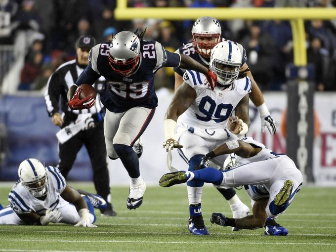 Patriots Running Back LaGarrette Blount had a big game Sunday against the Colts