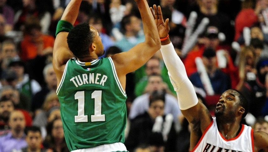 Celtics' guard Evan Turner drained the game winning shot in the win over the Blazers thursday night