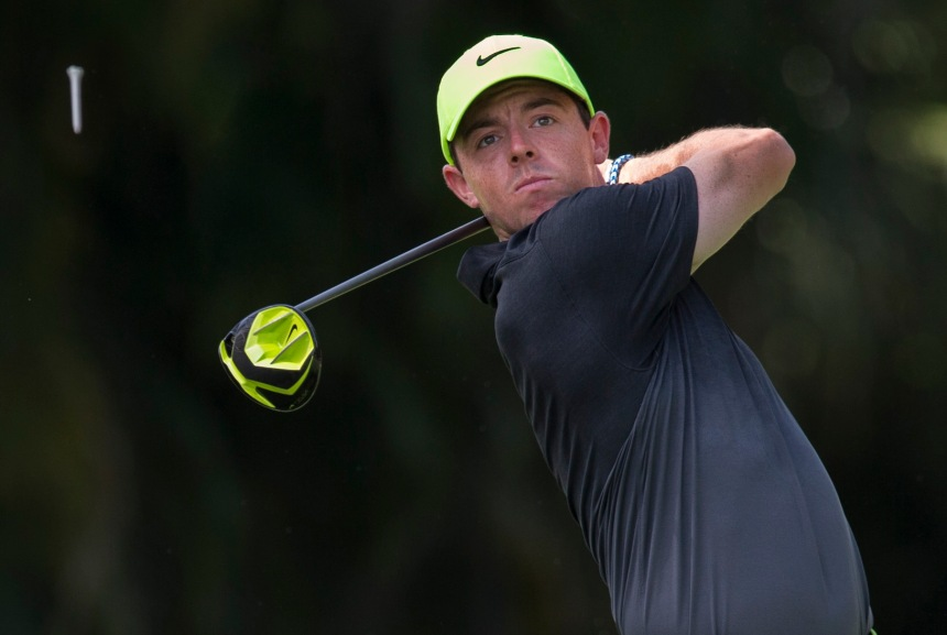 World Number one Rory Mcilroy wears Nike from head to toe and plays Nike golf clubs