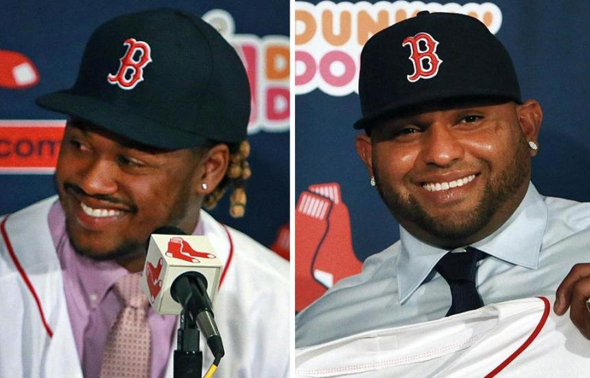 Hanley Ramirez (left) and Pablo Sandoval will help improve the Sox lineup in 2015