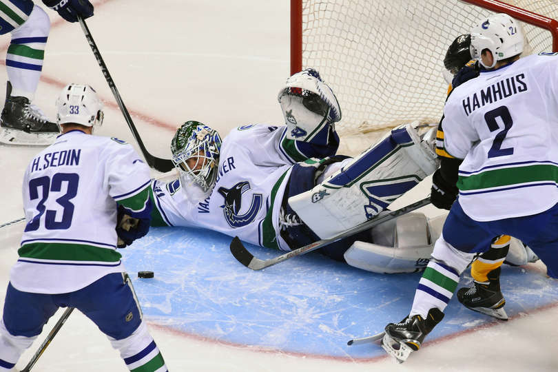 Eddie Lack stood on his head and lead the Canucks to a win in Boston