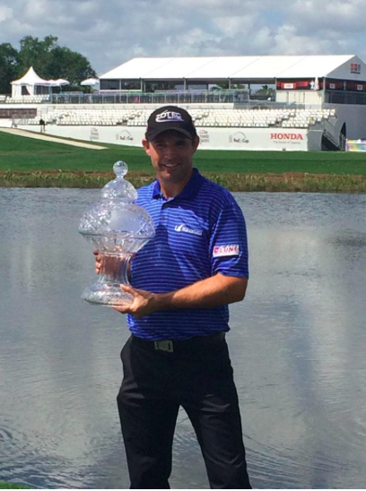 """I wasn't sure I would be holding this when I hit it in the big lake behind me in regulation."" -Padraig Harrington"